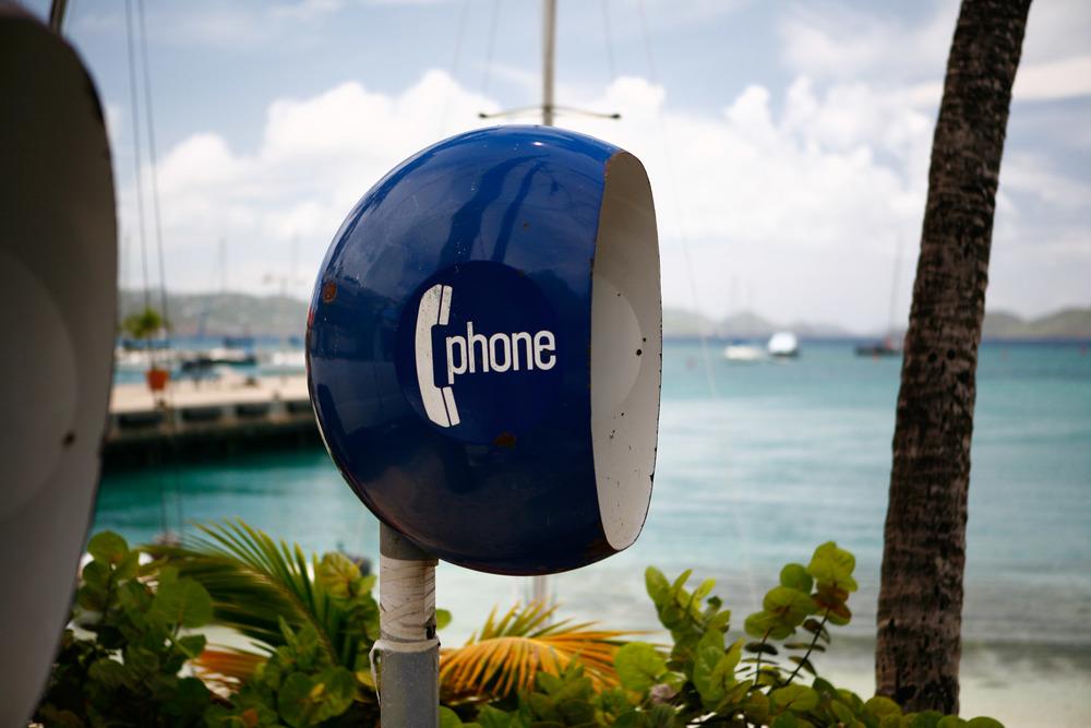 Phone booth on St. John
