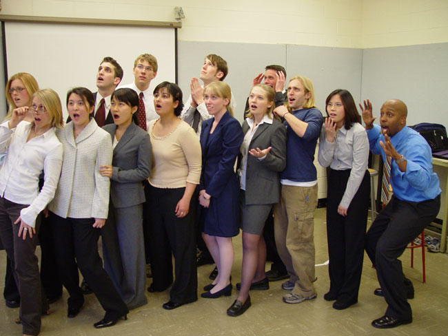 my visual communication class - 2003