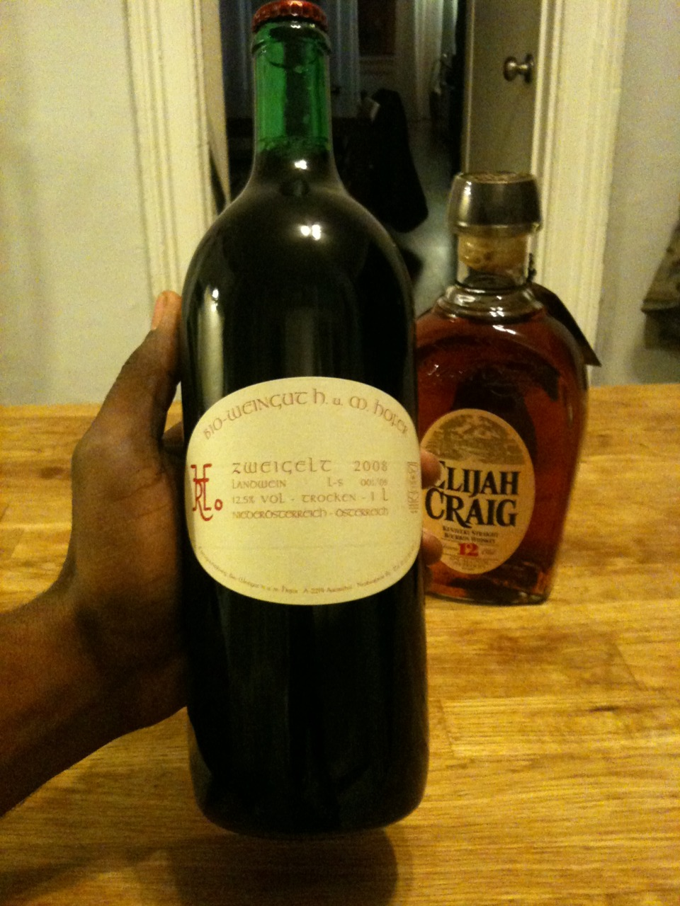 Definitely my favorite wine. (trying a new bourbon for the lightweight, Marcia)