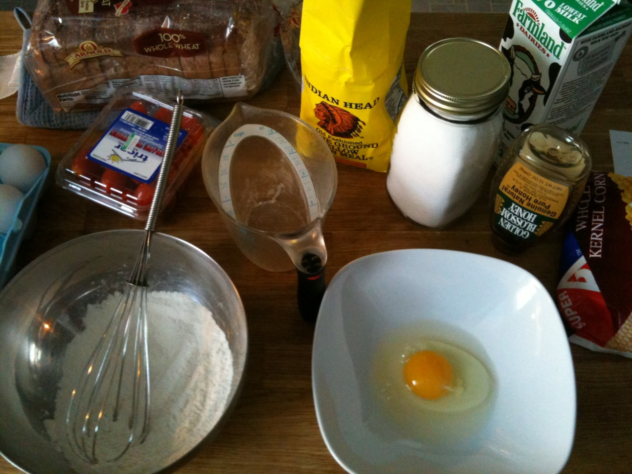 Today I'm making my favorite dish from my grandma: cornmeal pancakes
