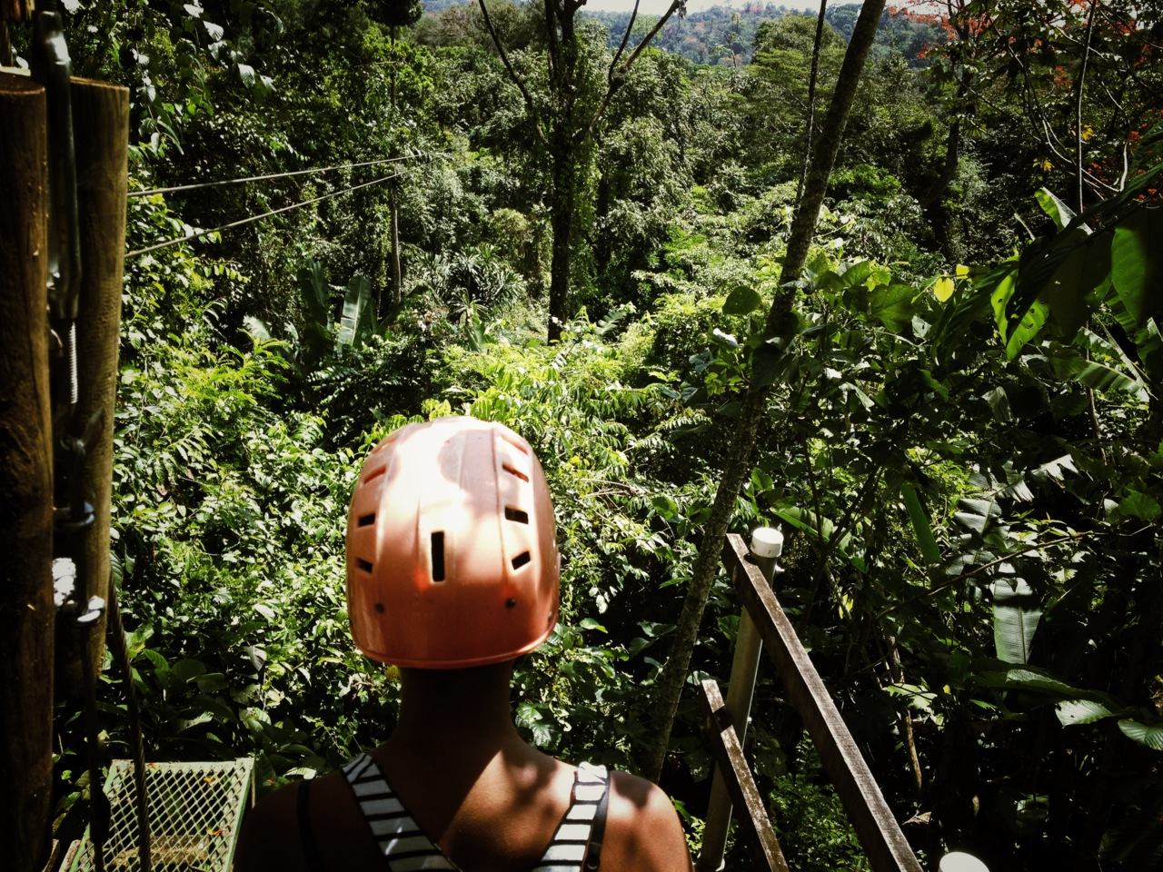canopy zip line in Bomba, Limon.