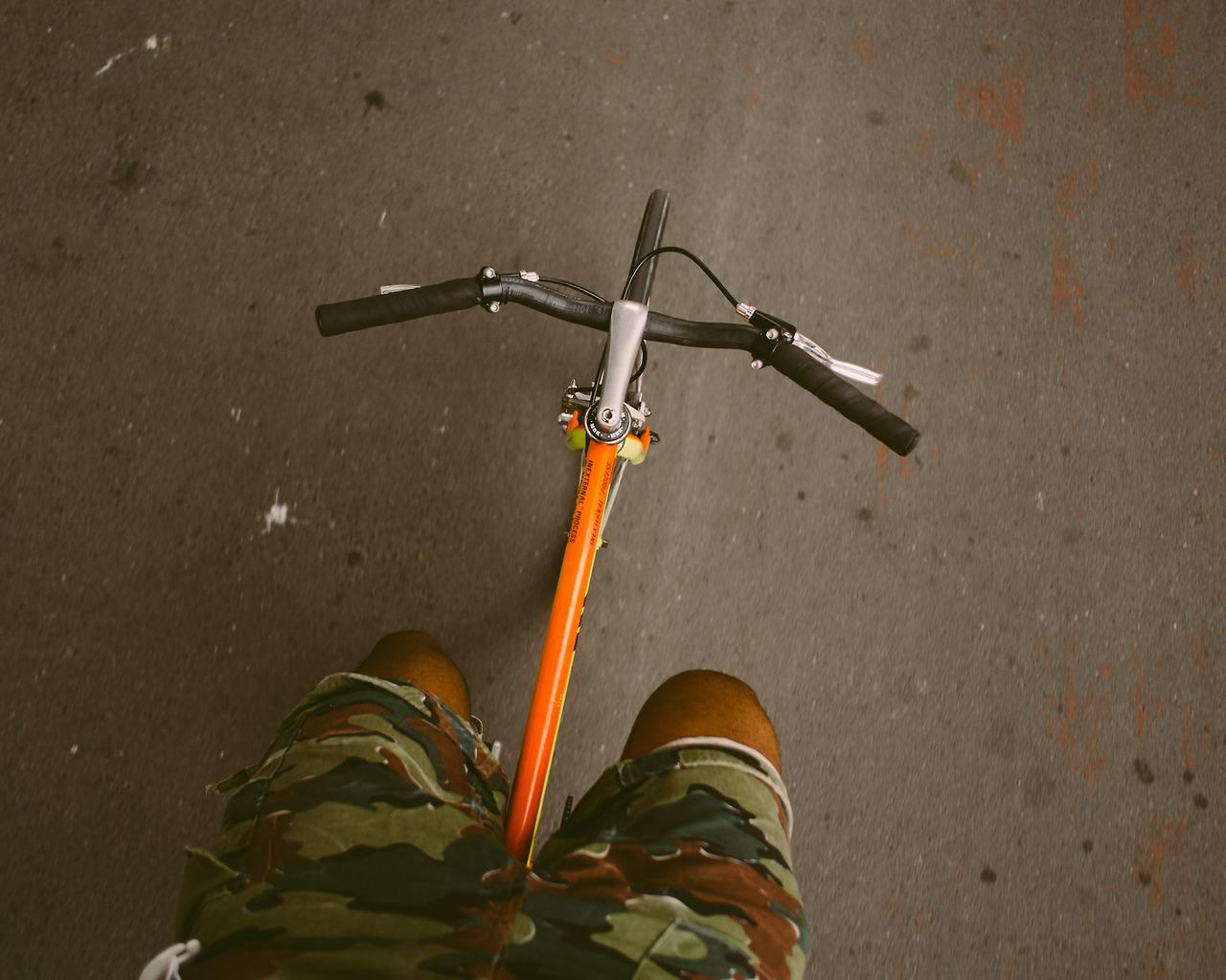 SLATER riding through the streets of Kreuzberg.