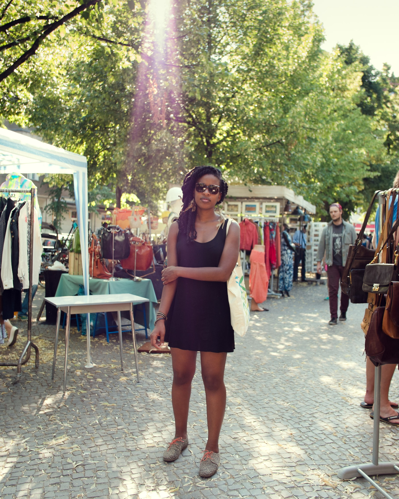 @marciaann in her new shades from the Boxhagener Platz Flea Market