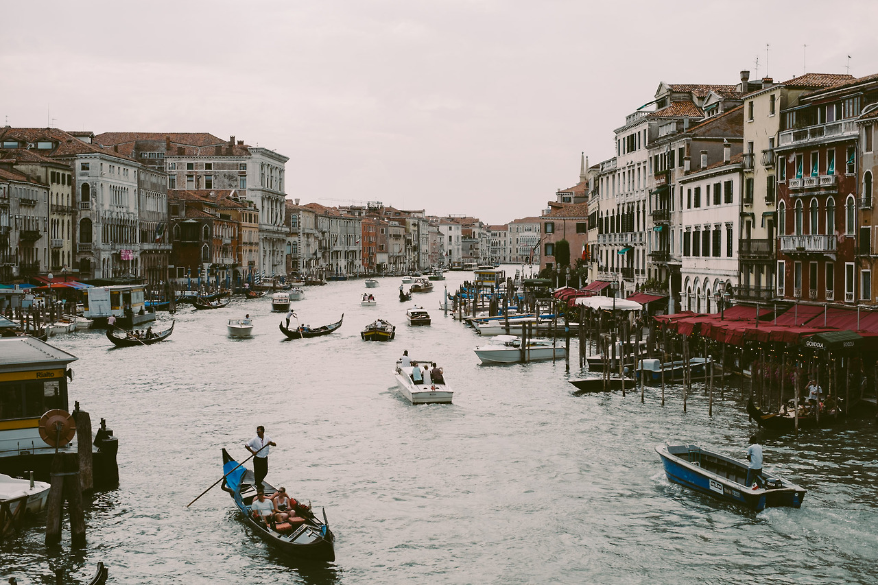 View of the Grand Canal from Rialto