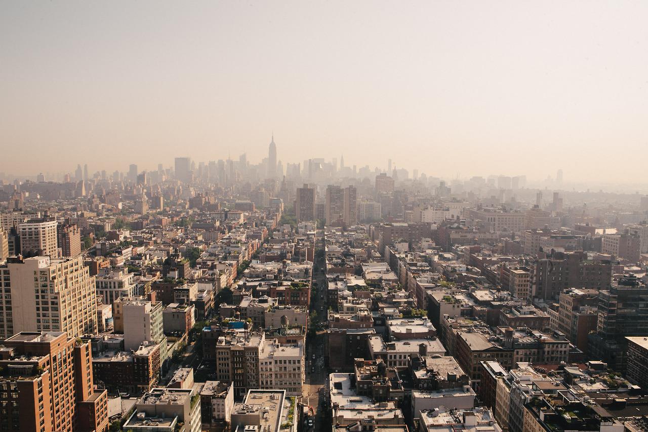 Early morning, hot and hazy, NYC