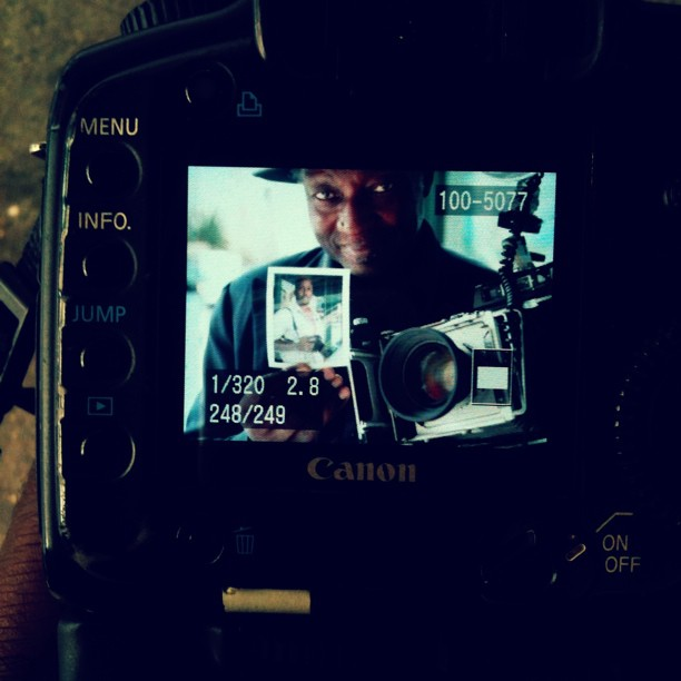 I was just shot and schooled by Louis Mendes. Made my day! (Taken with Instagram near Adorama)