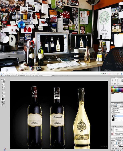 desktop  on Flickr.  After reading about Mark Cuban buying a small child sized bottle of Ace for 90k I remembered that we got paid for shooting the first bottle with a few bottles of their soy Vodka (3).    Freshman Mistakes