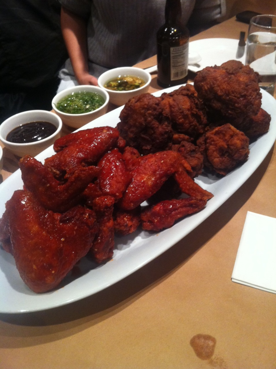 blazey :     Here we go! Momofuku fried chicken #2     my god.    my goodness.