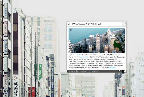 secondsminuteshours :     we took over nalden.net and invited a few friends to share their travel moments.    check it out .     One of my photos from a trip to Tokyo is featured. So happy!