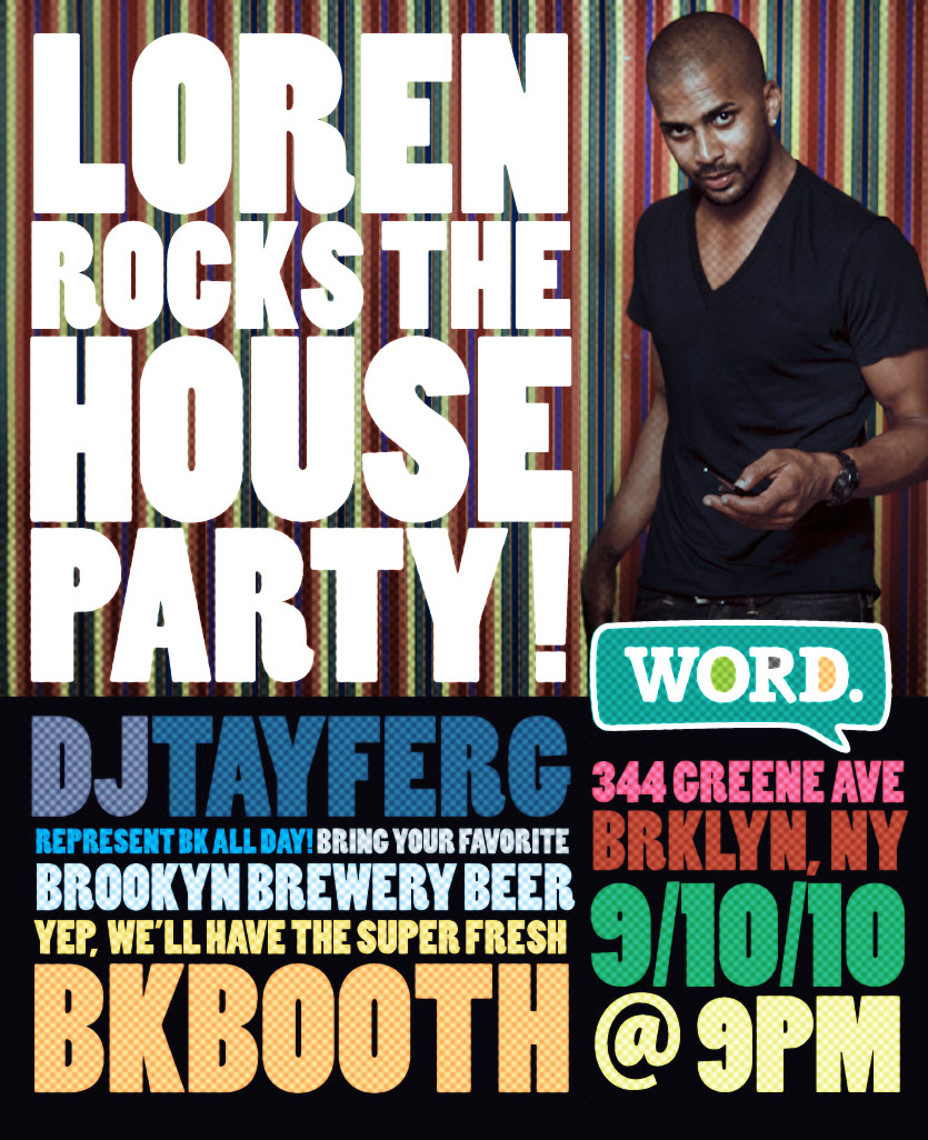 Loren's Birthday!    If you need a reason to come to brooklyn  next friday, this is it! grab a six pack of brooklyn from the bodega downstairs and ring #2.