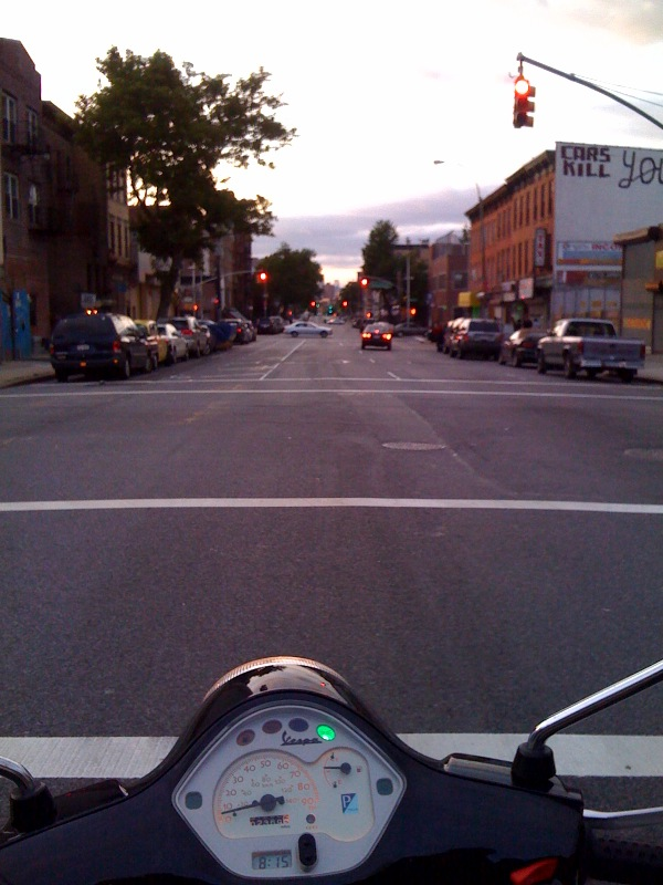 Friday after sundown is the best time to drive down Bedford ave