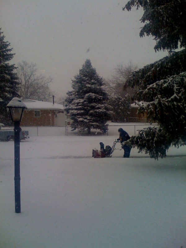 loveinanunusualway :   How could I ever move from here my neighbor is snowblowing my snow! thank you!   I think i'm going to love my mom's new tumblr. she loves her iphone photos