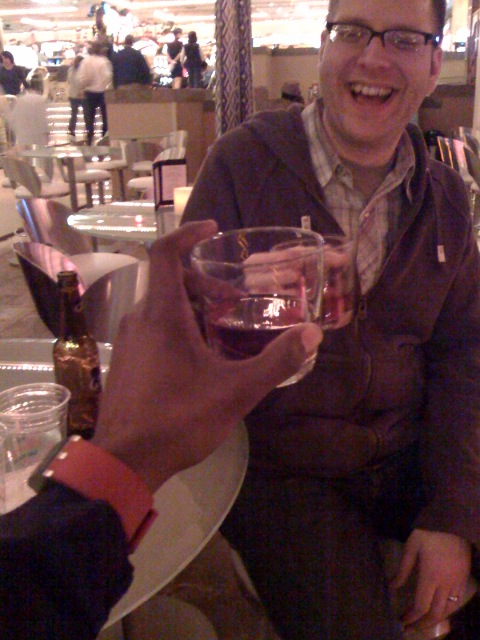 Manhattans with Noel Paul, aaron's good friend from Ohio