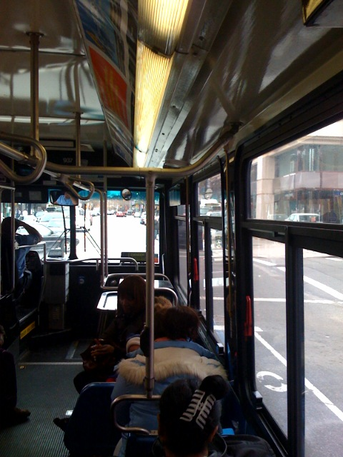 Bus ride from our meeting in park slope