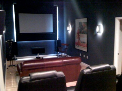Neal's home theater.