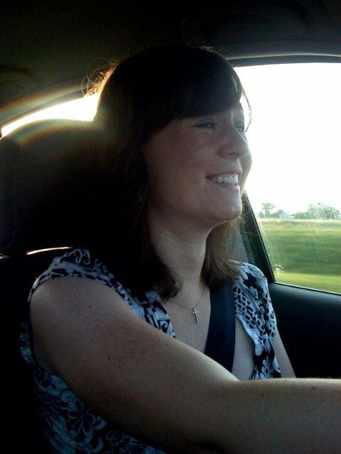 Erin driving us to cincinnati
