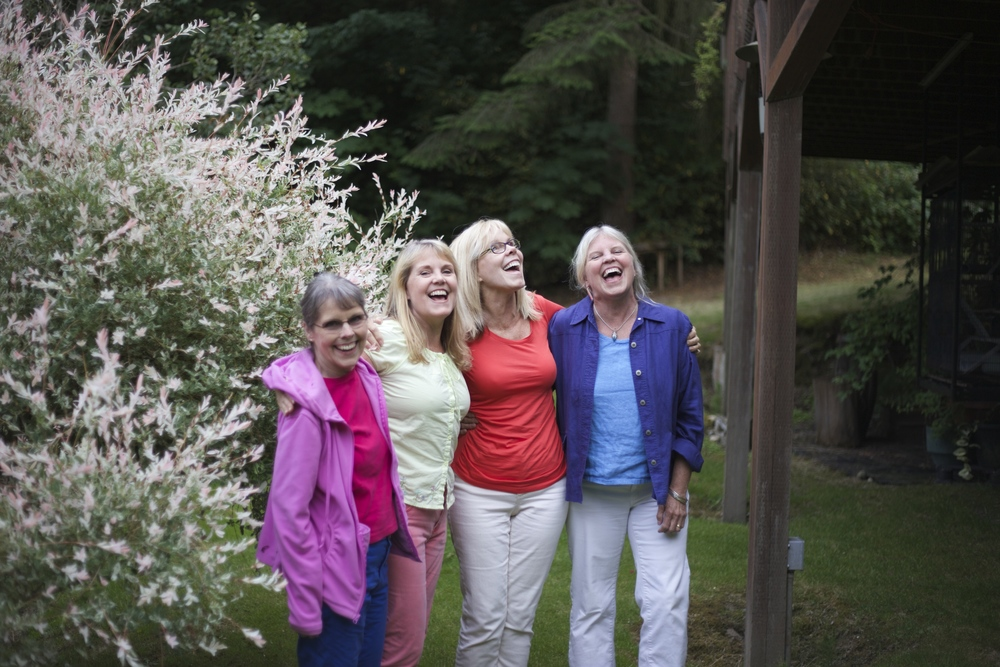 Jack's sisters--I love the camaraderie and joie de vivre in this picture.