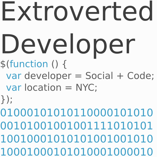 Extroverted Developer
