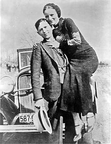Bonnie and Clyde in March 1933.