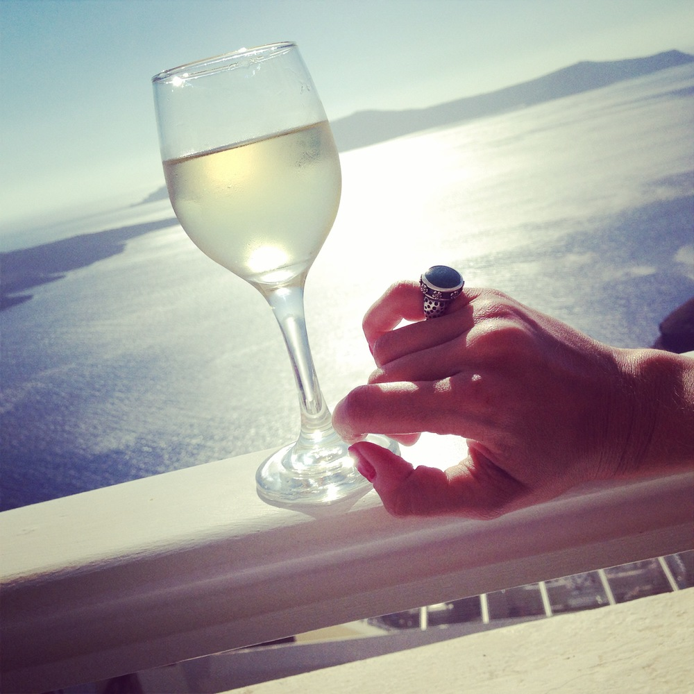 Noora goes to Santorini, July 2014