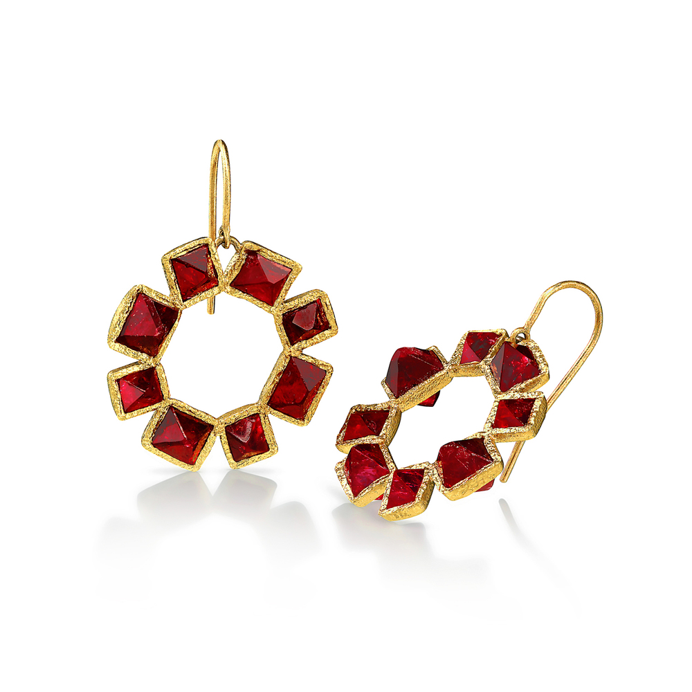 Spinel Crystal Earrings