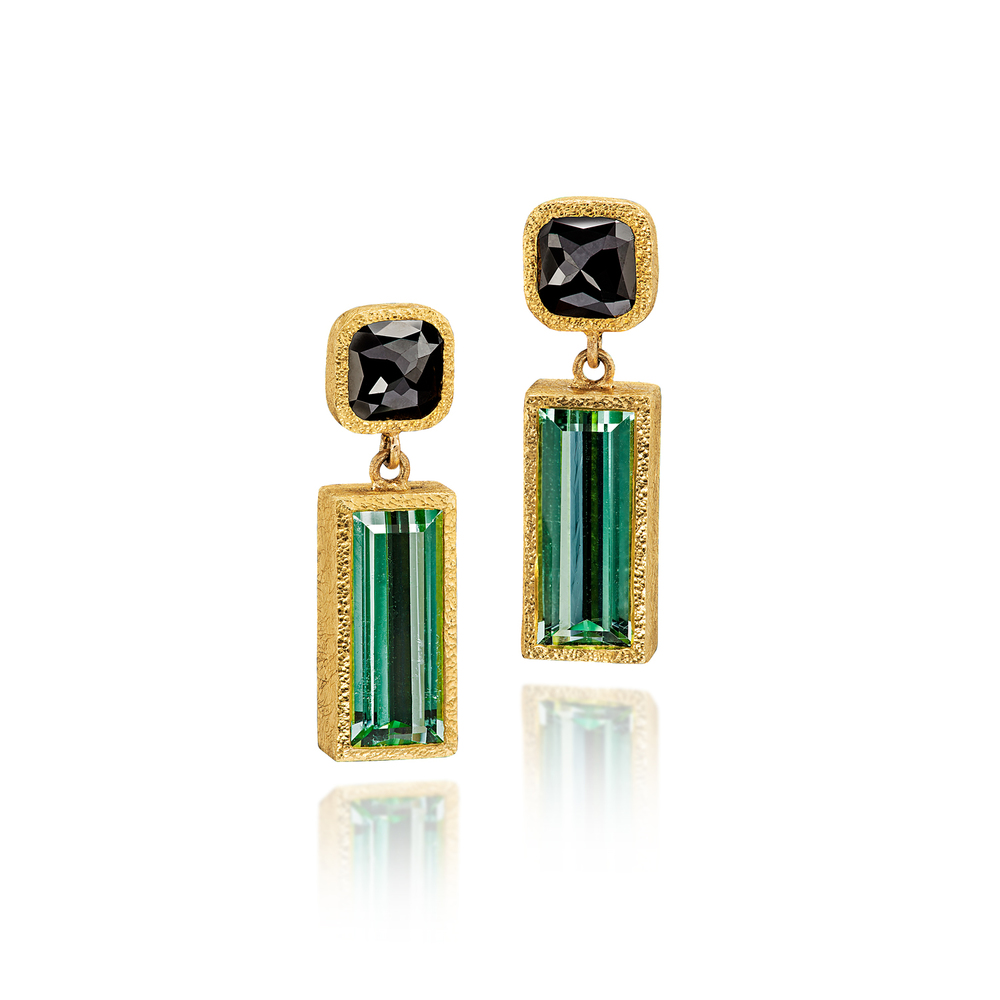 Black Diamond and Tourmaline Drops