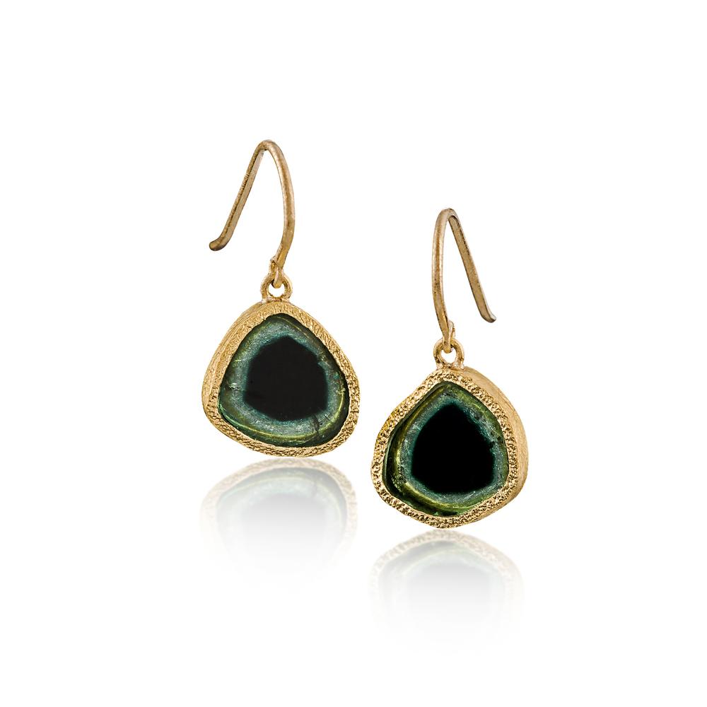 Tourmaline Crystal Earrings
