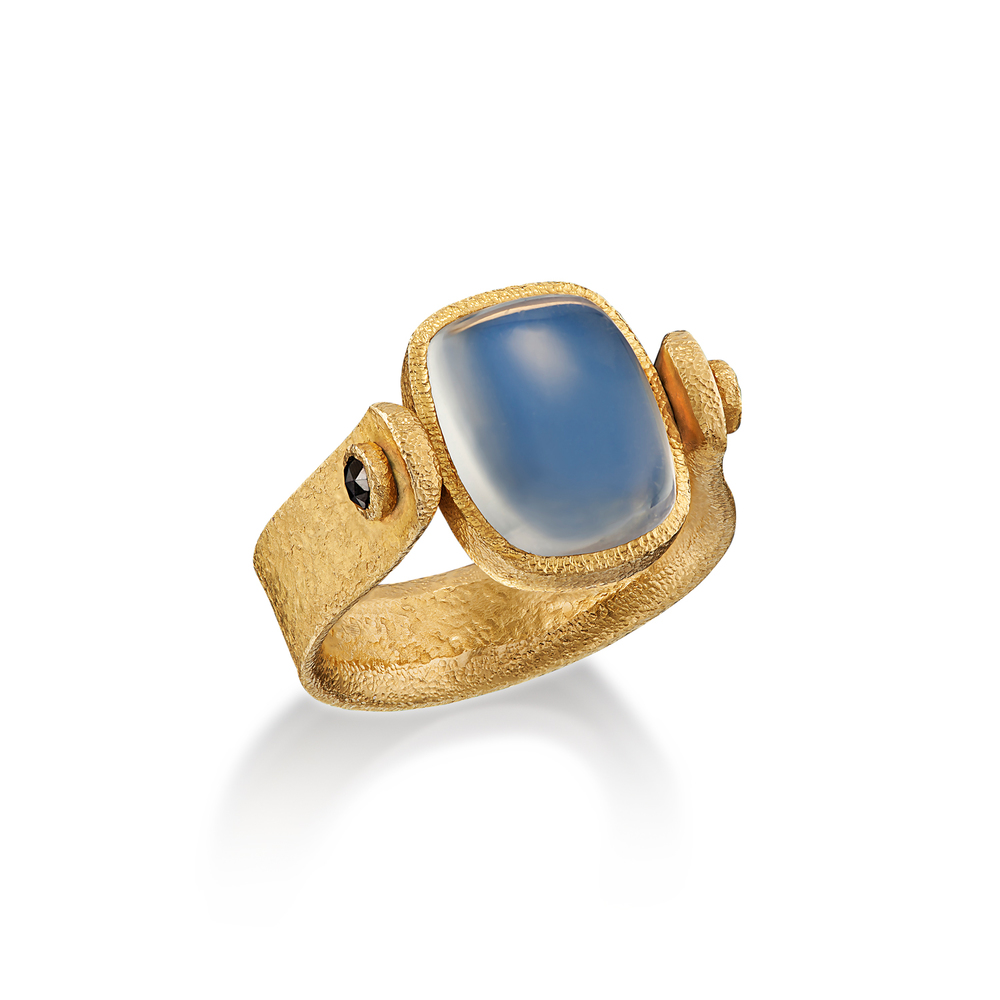Moonstone Swivel Ring