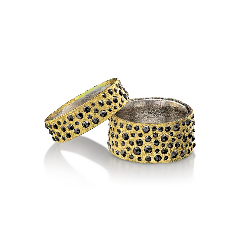 Black Diamond Band Rings