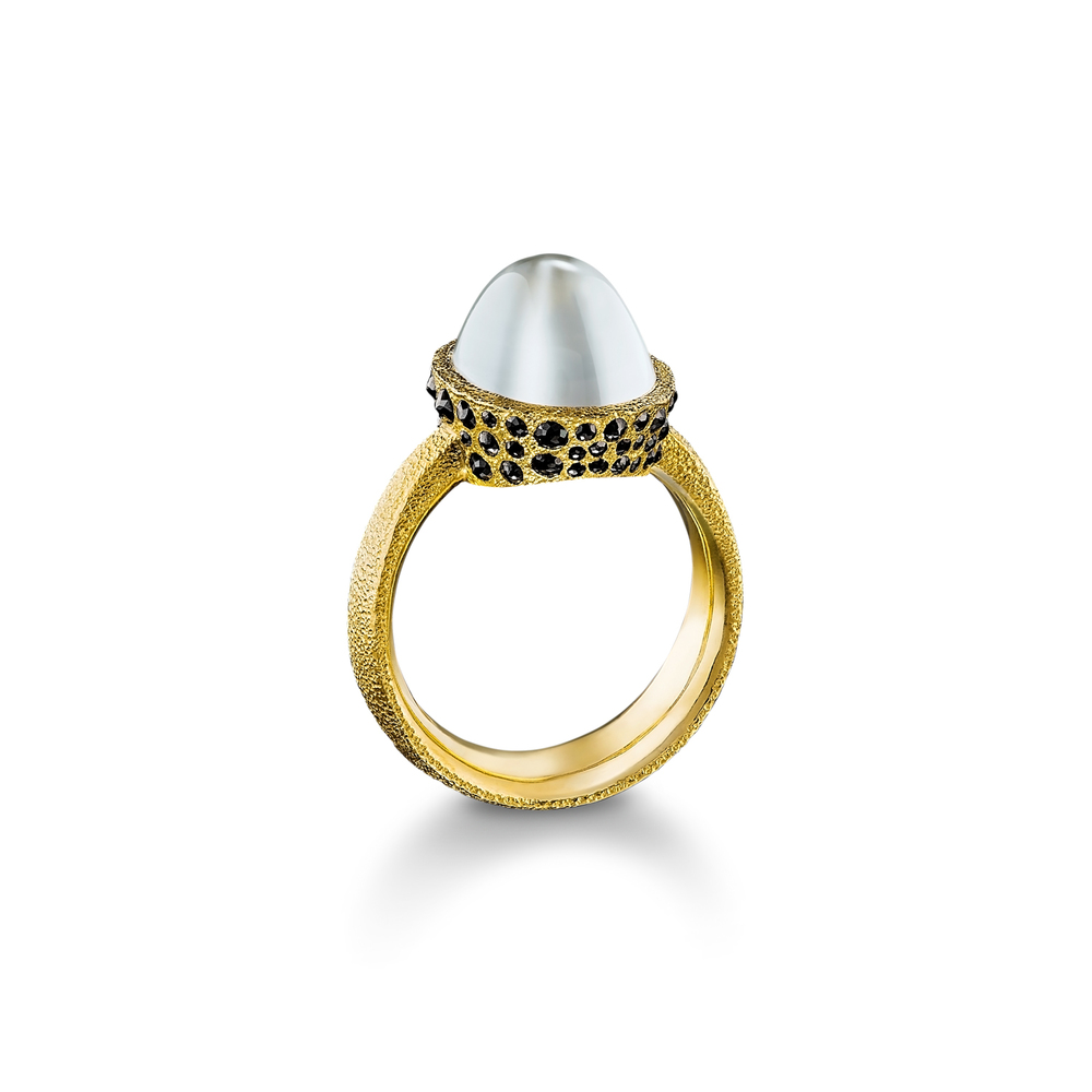 Burmese Moonstone Ring