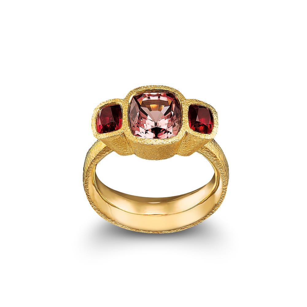 Cognac Spinel Ring