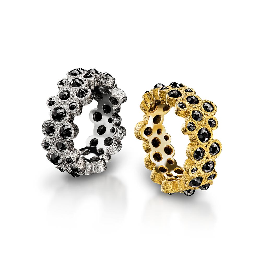 Multi Black Diamond Rings