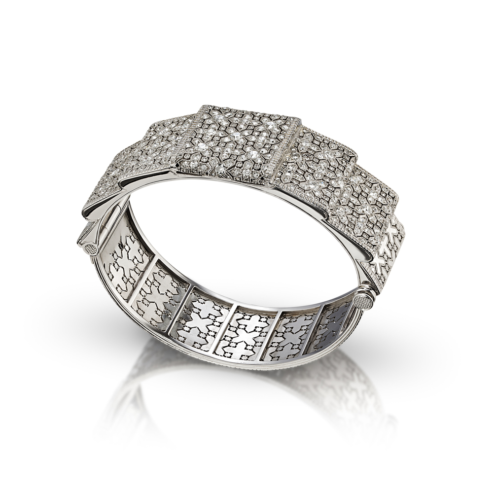 Platinum and Diamond Commission Bracelet