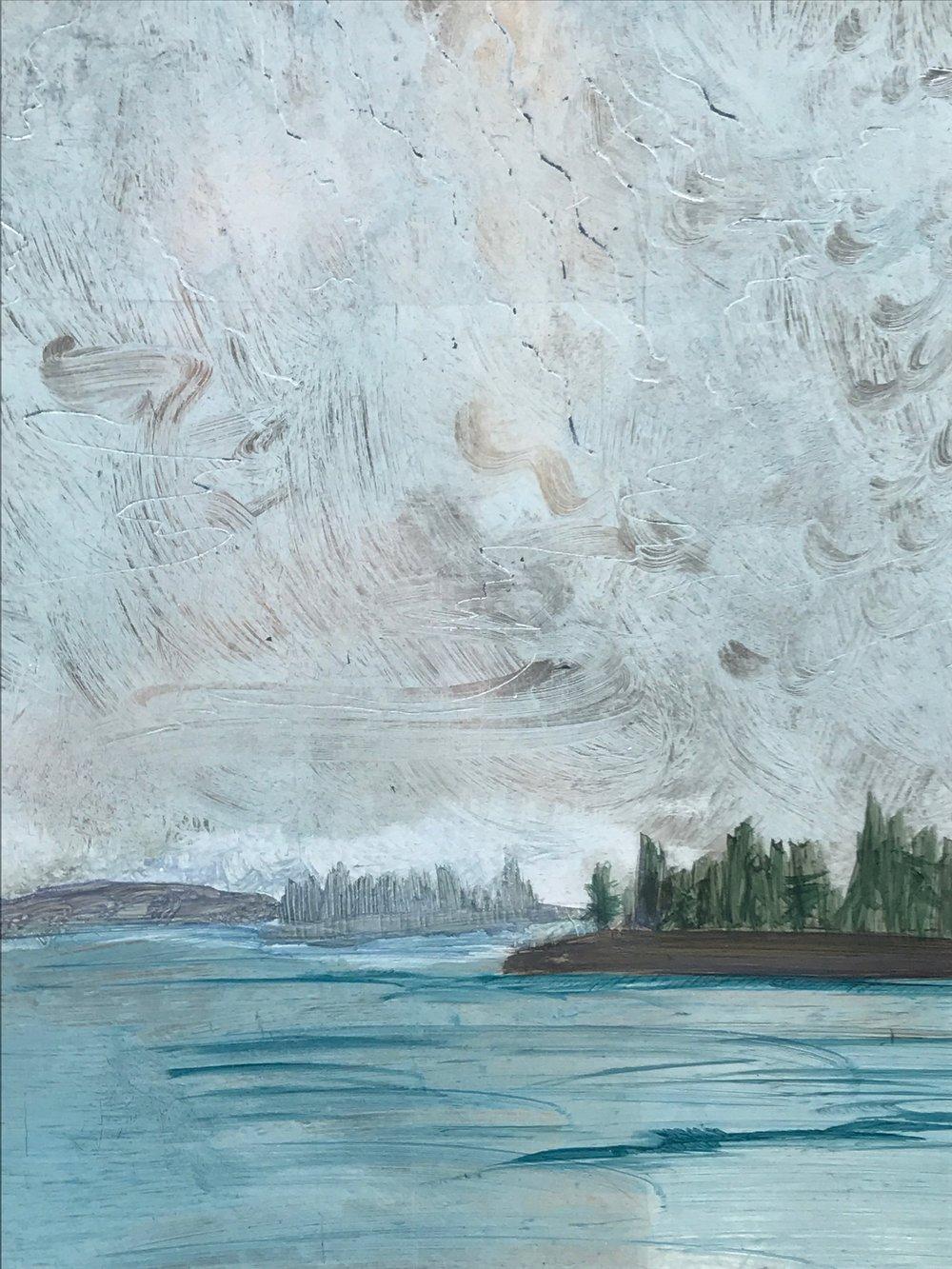 """Deer Isle Afternoon Detail. 10x12"""" $900"""