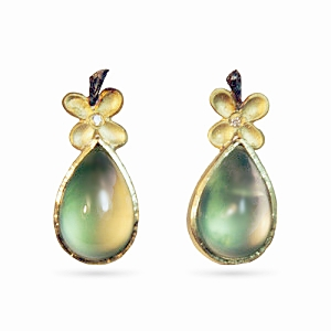Prenite Pear Earrings with 18K & Diamond $1400