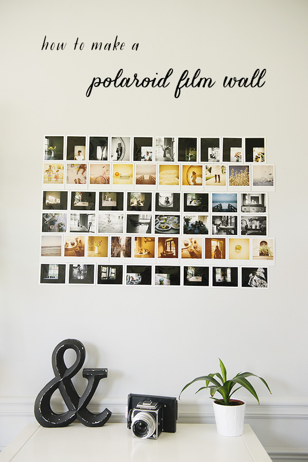 How to Make a Polaroid Wall - Azzari Jarrett