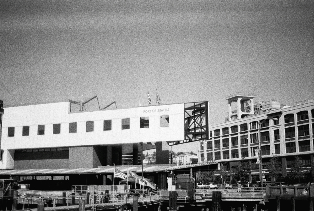 Port of Seattle | Black and White Film Photography by Azzari Jarrett