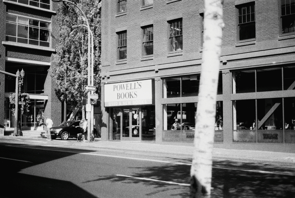 Powell's Books Portland | Black and White Film Photography by Azzari Jarrett