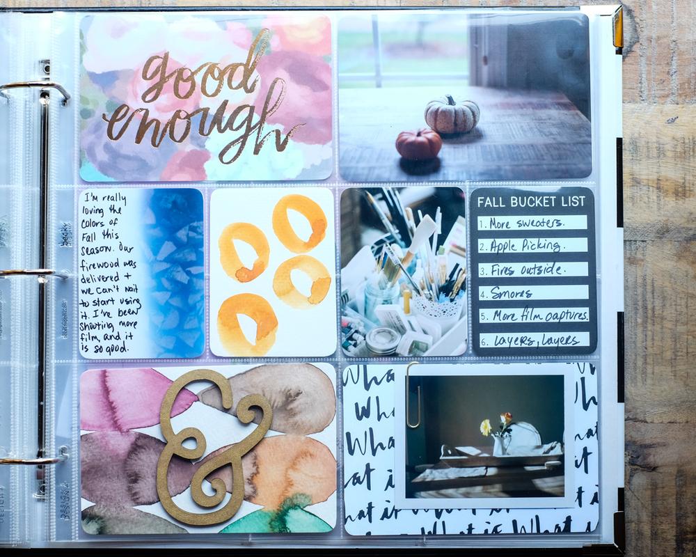 Fall Project Life Layout | Azzari Jarrett