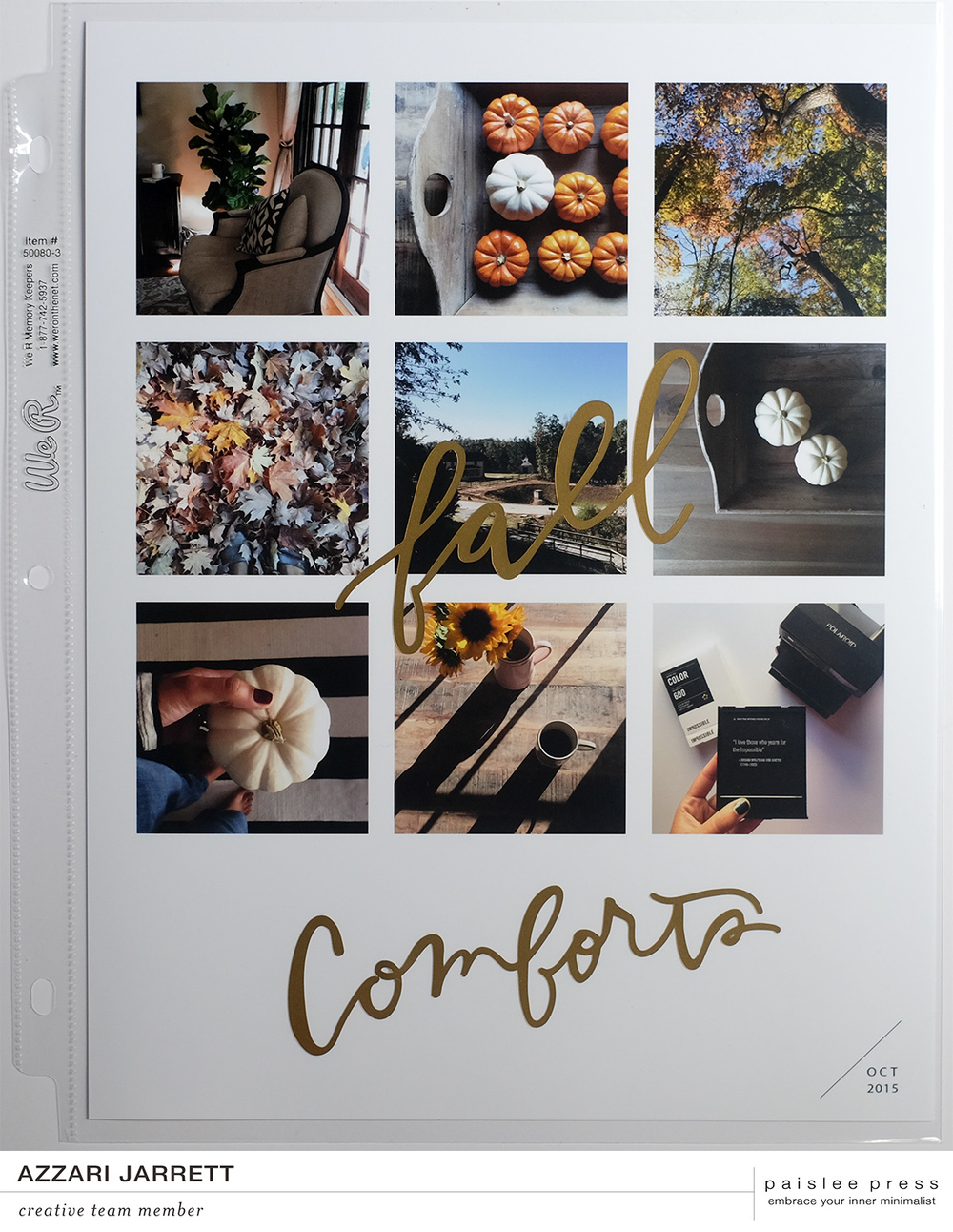 Fall Comforts Layout | Azzari Jarrett