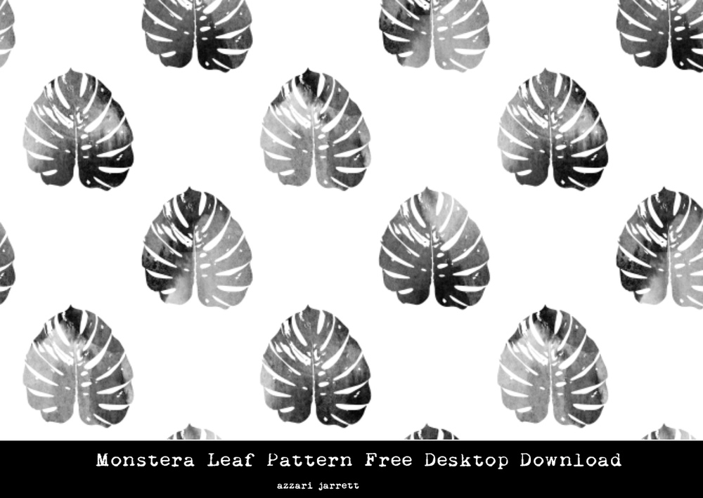 Monstera Leaf Pattern Free Desktop Background | Azzari Jarrett