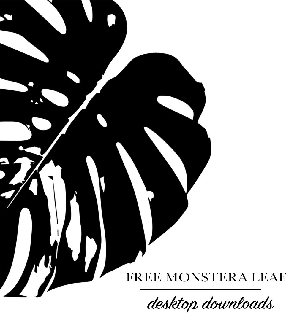 Free Monstera Leaf Digital WallPaper Downloads | Azzari Jarrett