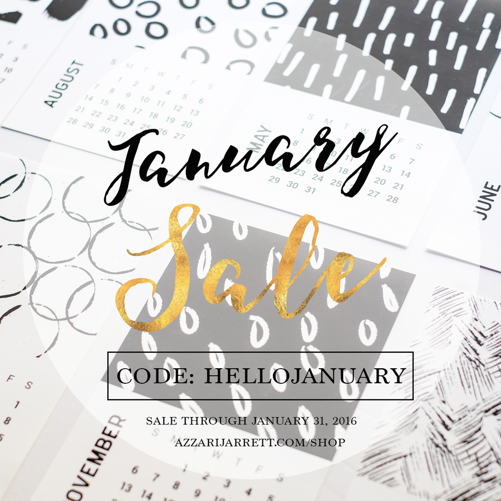 January 2016 Sale - Azzari Jarrett Photography + Design | Azzarijarrett.com/shop/