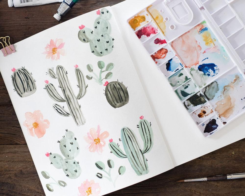 Azzari Jarrett | Cactus Watercolor