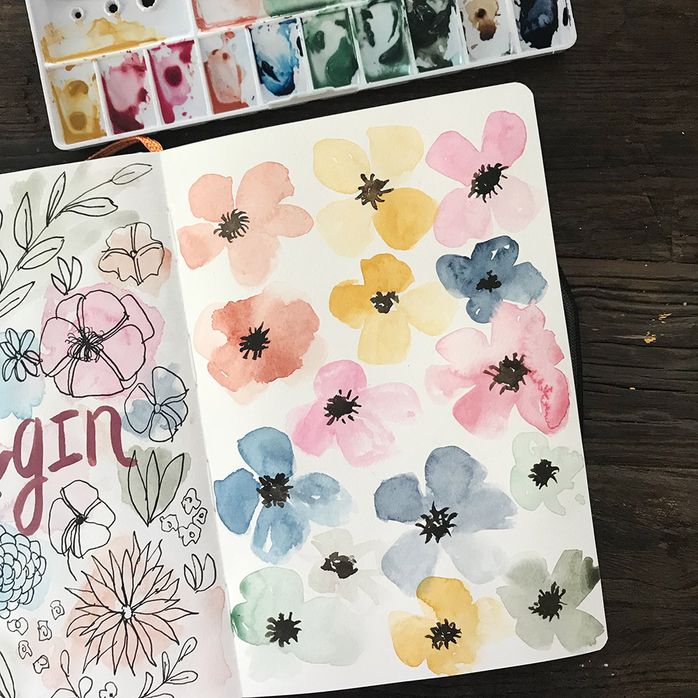 Azzari Jarrett | Rainbow Watercolor Florals