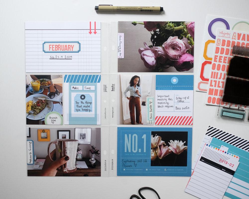 Documenting Project Life in a 6x12 album by Azzari Jarrett