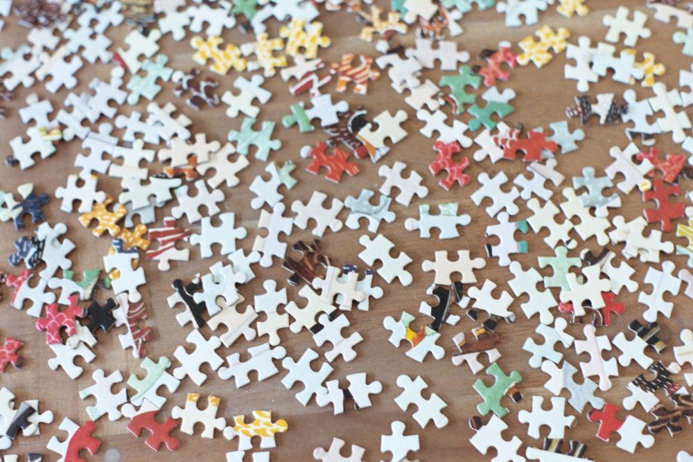 Puzzle pieces on 35 mm film by Azzari Jarrett