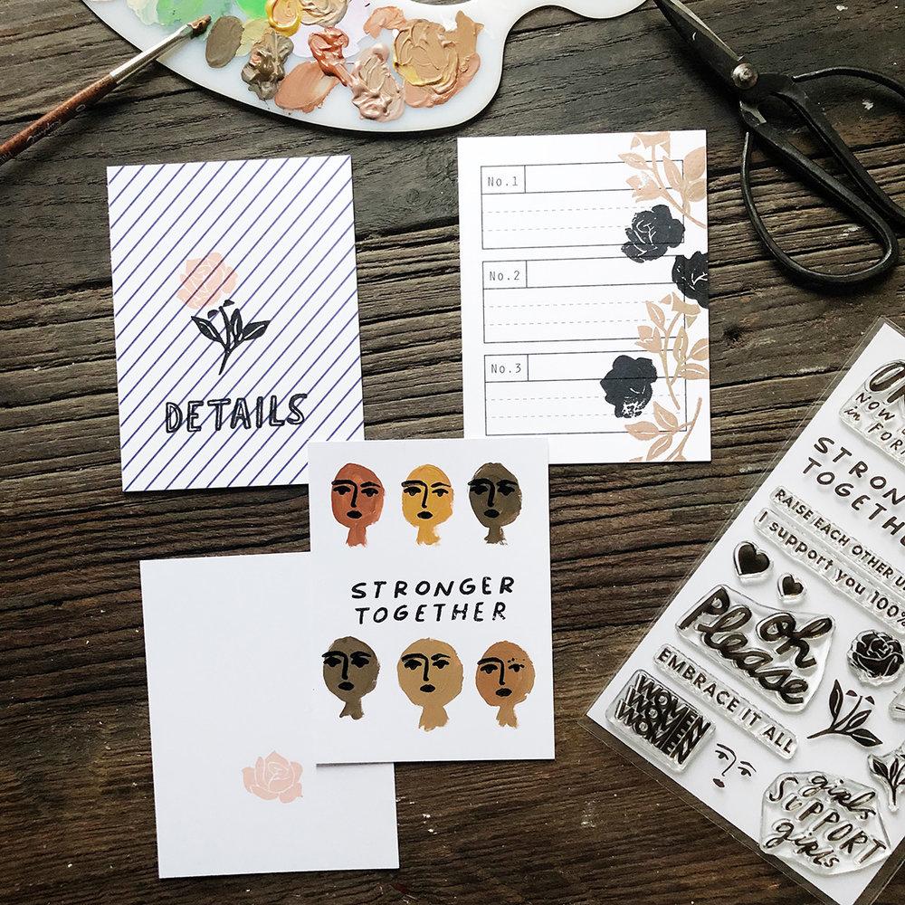 Azzari Jarrett | Stronger Together Project Life Cards