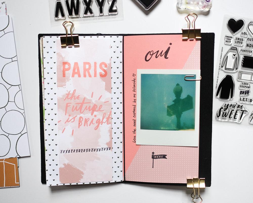 Paris Traveler's Notebook Layout by Azzari Jarrett