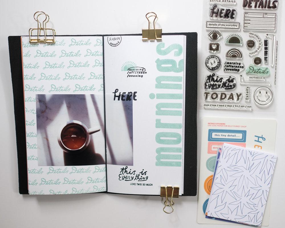 Mornings Traveler's Notebook Spread by Azzari Jarrett
